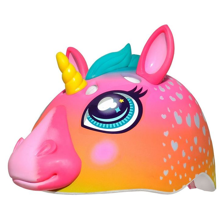 Girls C Preme Raskullz Super Rainbow Unicorn Bike Helmet, Pink