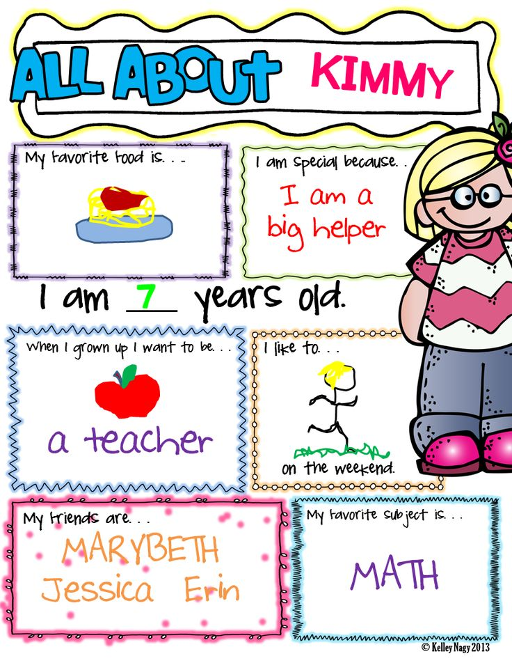 Design Classroom Posters : All about me boys and girls
