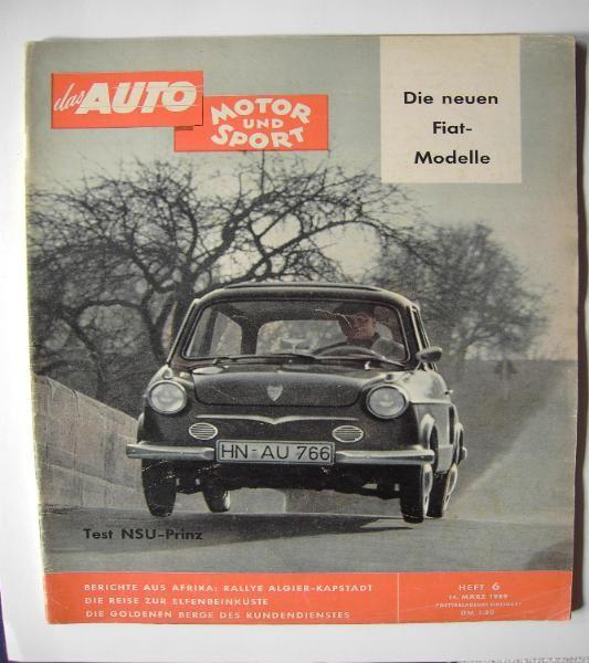 AMS  14.März 1959 - NSU Prinz - Citroen DS 19