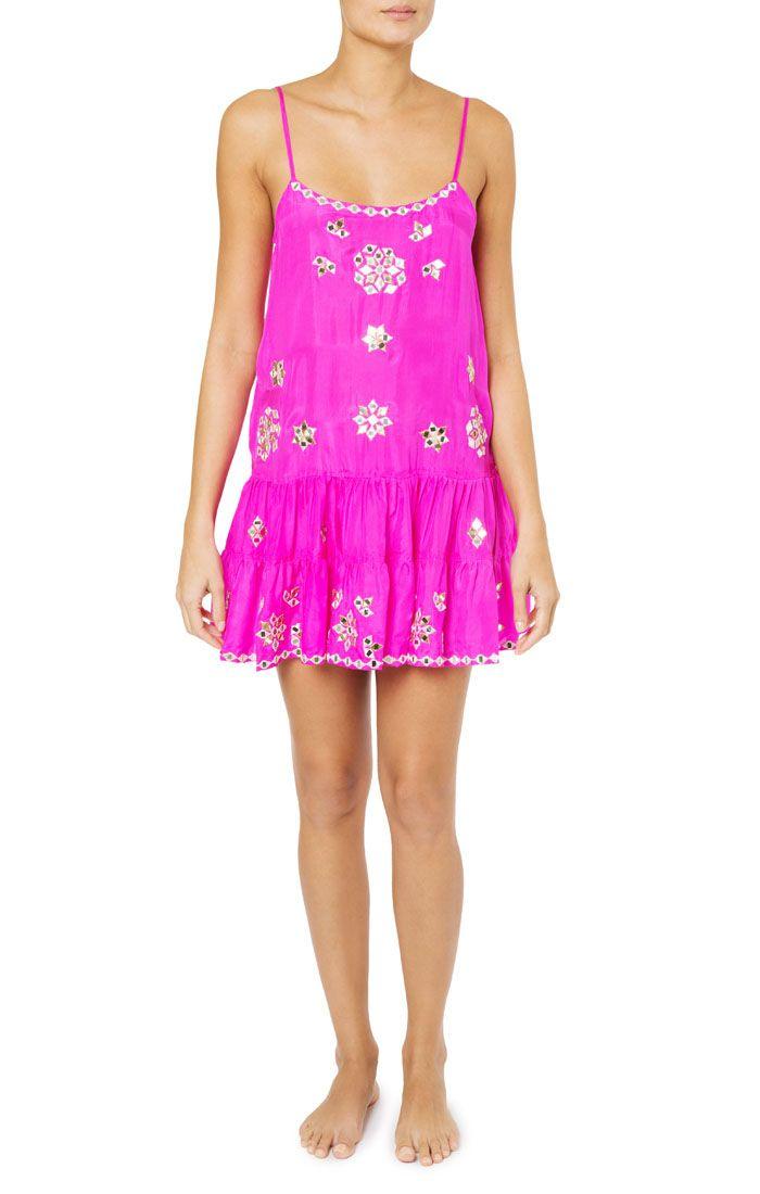 Designer Beach And Resort Wear Juliet Dunn Online Silk Cocktail Dress Designer Beach Wear Camisole Dress