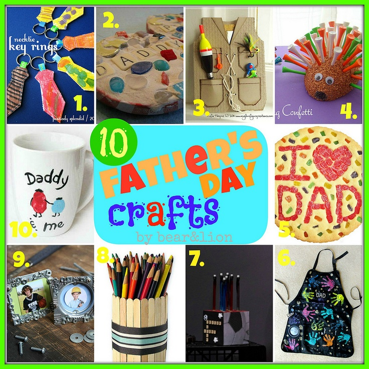 #papercraft #FathersDay ideas:  10 Fathers Day Crafts for Kids