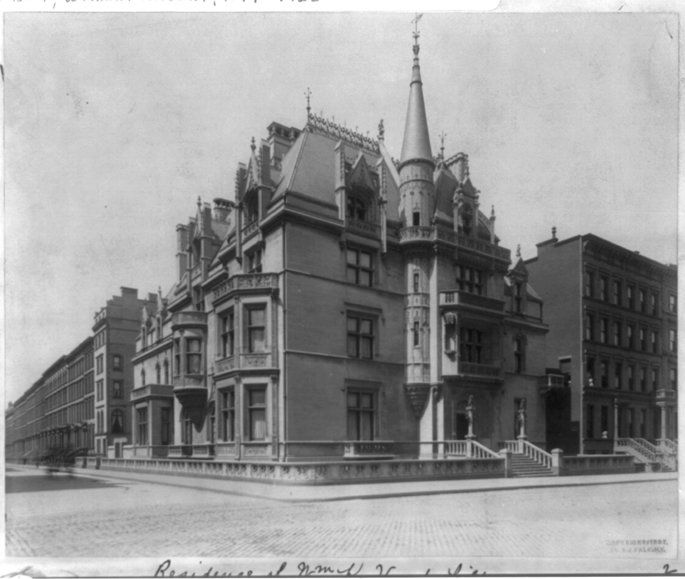 "660 Fifth Avenue - ""Petit Chateau"" o.) William K. Vanderbilt b.)1878 a.) Richard Morris Hunt s.) French Renaissance & Gothic [Demolished 1926; Today is Zara]"