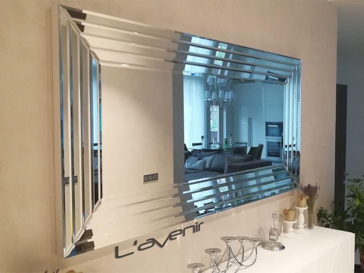 <b>Зеркало</b> панно размер 2000х1000х50 мм., ширина полосок 50 мм ...