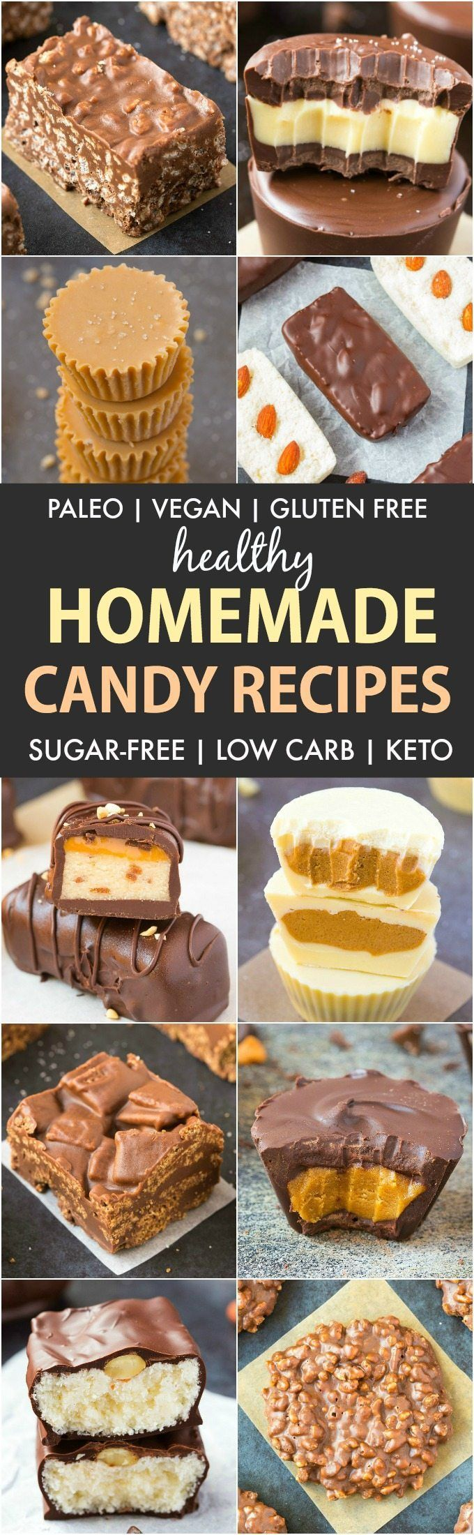 20 Healthy Homemade Candy Recipes (Paleo, Vegan, Gluten Free)