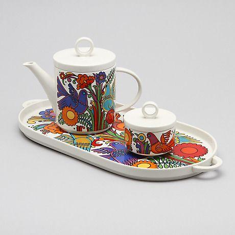 """143178. SERVISDELAR, 3 st, porslin, """" Acapulco"""", Villeroy & Boch. # Tea Set"""