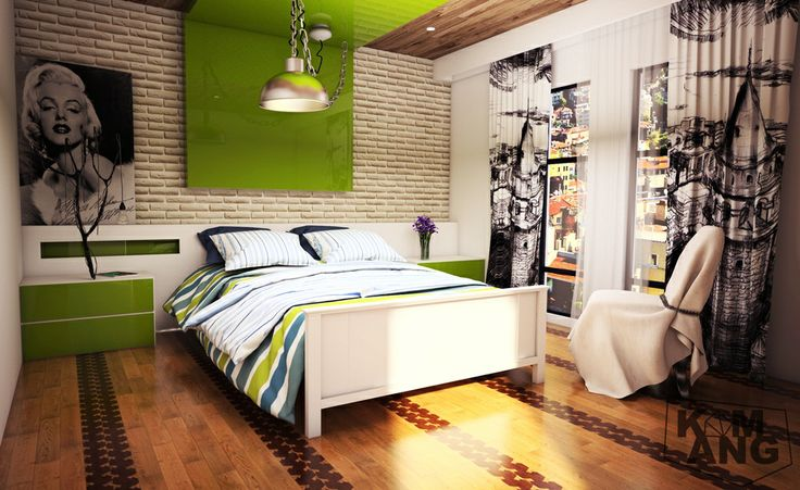 try to render bed room model from sketchup texture SU2013 + Vray 2.0 + Photoshop CS5
