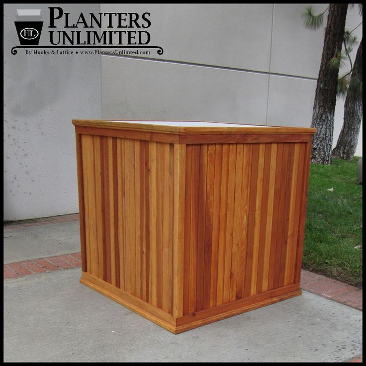 Large Redwood Planter Box For Tomatoes: 17 Best Images About Wooden Planters On Pinterest