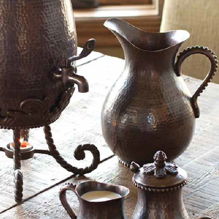 elevate your serving piece to status with the gg collection antique copper pitcher both decorative and functional the decanter wiht - Gg Collection