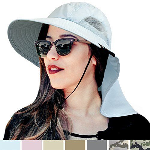 42717c90d804f SUN CUBE Premium Outdoor Hat for Hiking Safari Fishing Camping by Wide Brim  Cap  SUNCUBE