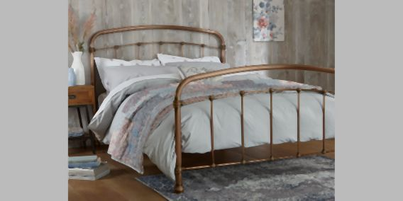 Buy Shoreditch Metal Double Bed Metal Copper from the Next UK online shop