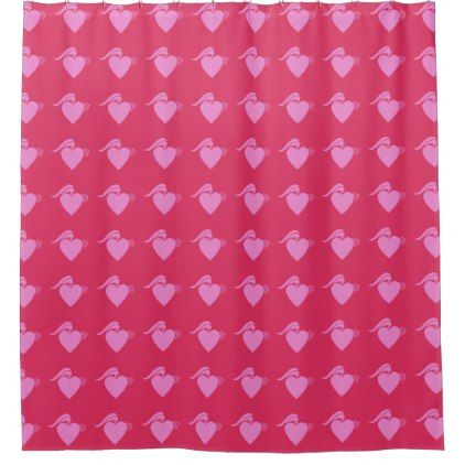 punk heart pink shower curtain - pink gifts style ideas cyo unique