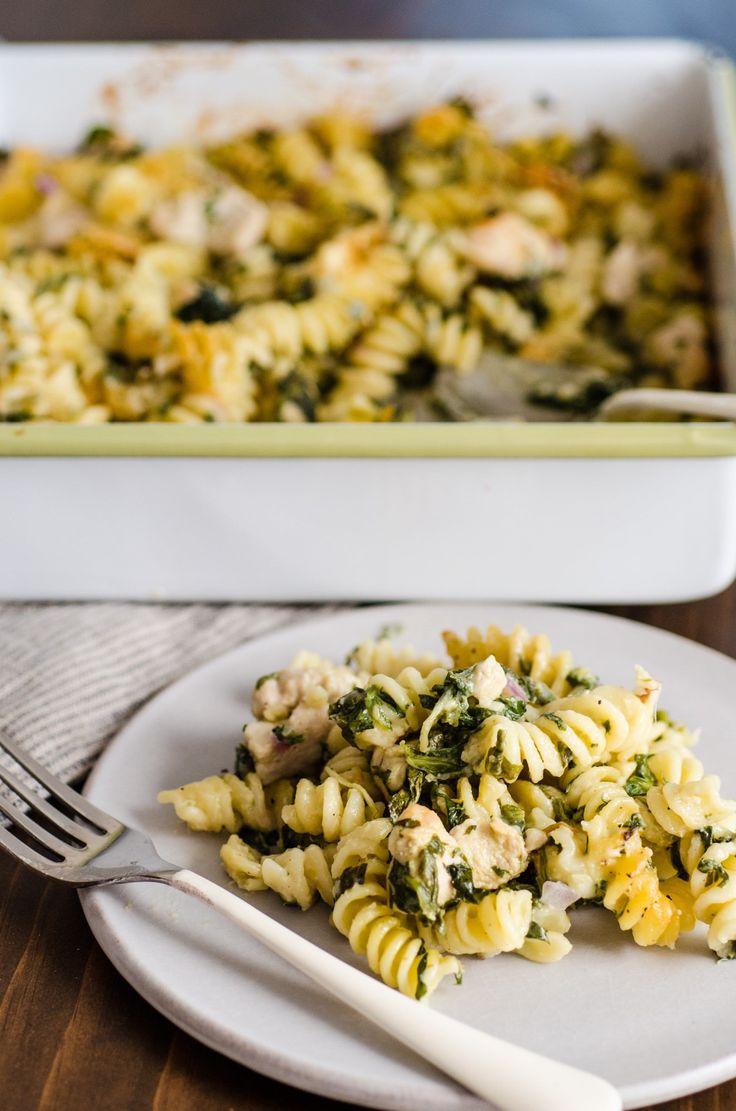 Recipe: Chicken Pasta Bake with Spinach