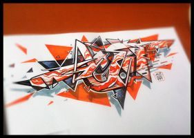 graffiti sketch orange triangle by acet1   – Graffiti