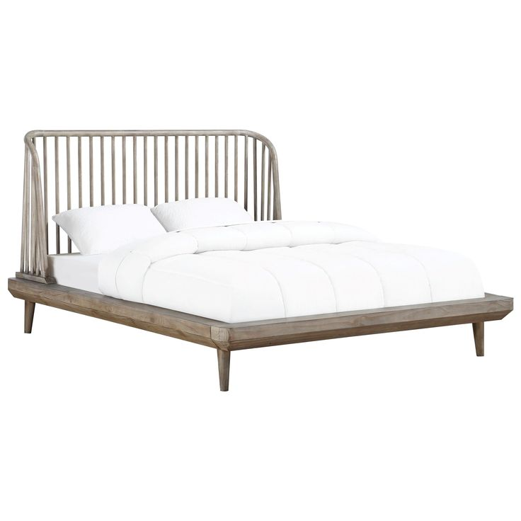 Spindle Full Platform Bed With Spindle Headboard By Modus