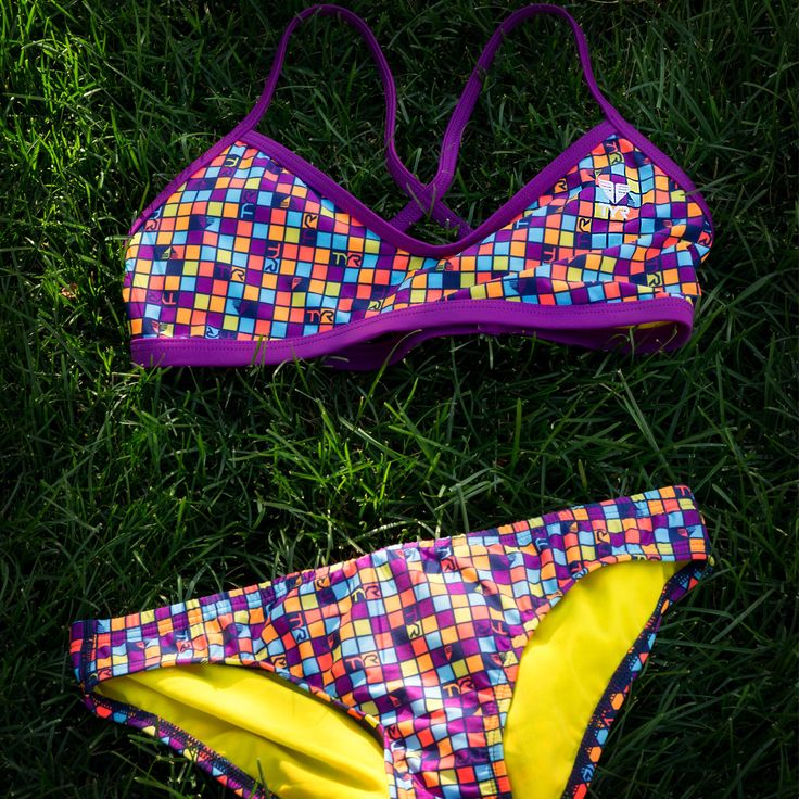 TYR work out bikinis are ideal suits for an active lifestyle. The bikinis are made to withstand swim practices and are created in fun prints to add a flare to any swim workout. This bikini and other work out bikinis are now available at the store! Hurry in while supplies last.