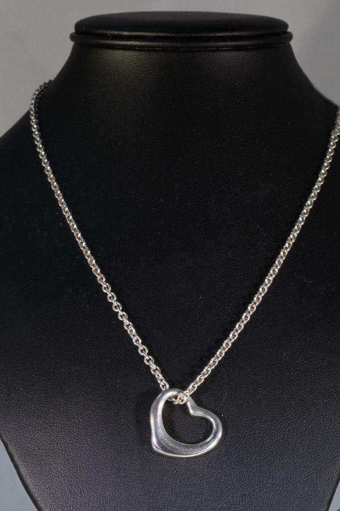 Collana Tiffany OPEN HEART di Elsa Peretti originale tiffany & co. in argento 925. Prezzo da outlet. Gioielleria Orolive
