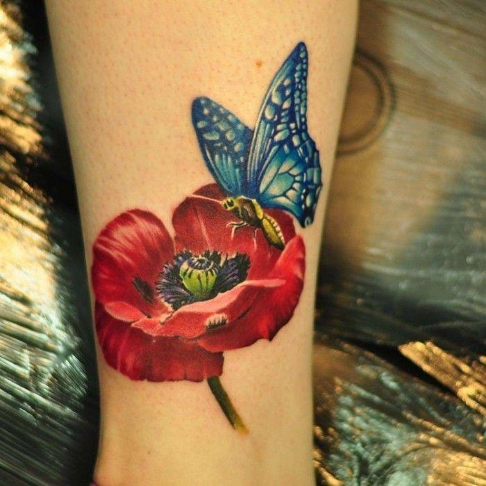 Schmetterling Tattoo Symbolik Bedeutung Und Modelle Wohnideen Und Dekoration Schmetterling Tattoo Mohnblumen Tattoo Mohn Blume Tattoo