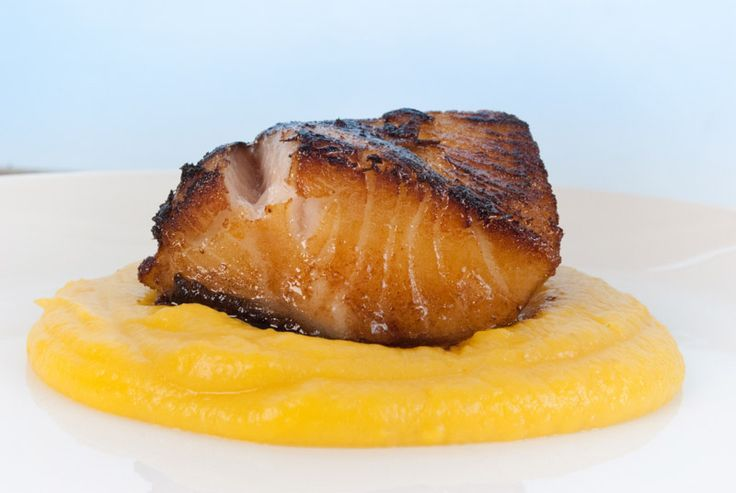 Maple and Soy Black Cod with Butternut Squash Purée