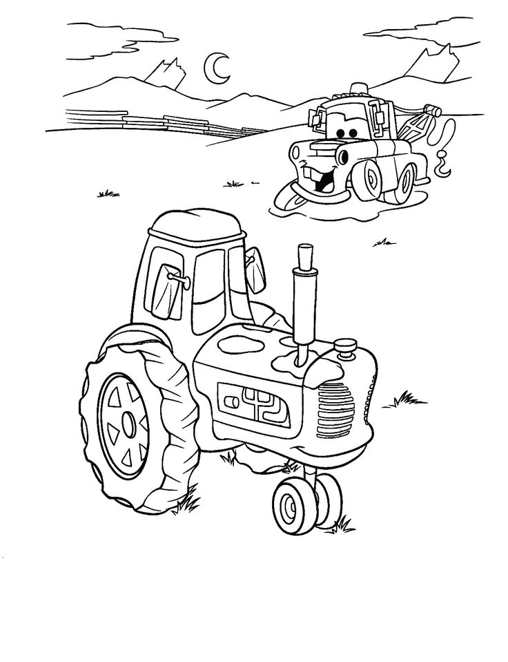 Free printable Mater and Tractor