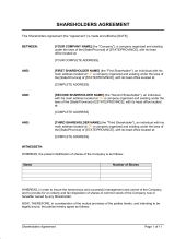 Business-in-a-Box - Download Shareholders Agreement Templates & Forms Now