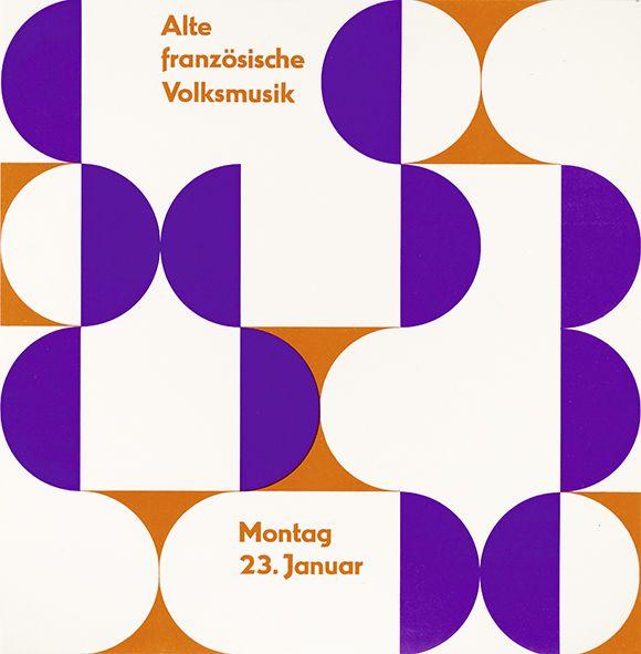 Alte französische Volksmusik - Januar 1956. Vortrag Prof. Paul Arma, Paris. Ulmer Volkshochschule. Gestaltung Otl Aicher