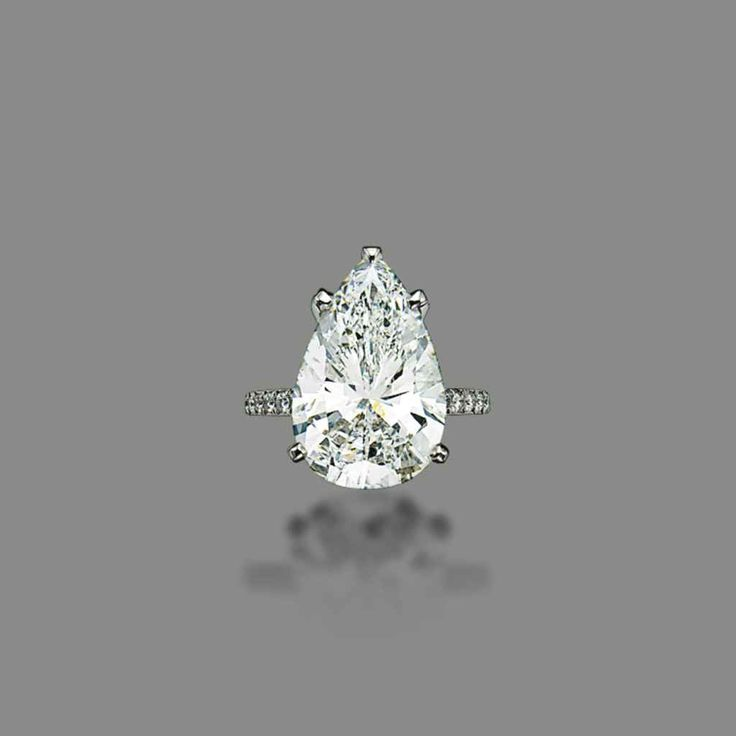 A pear-shaped diamond ring #engagementring #christiesjewels