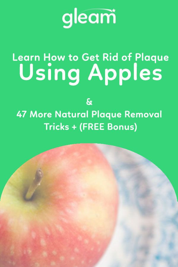 Apples are a wonderful natural detergent & plaque remover + 47 More Natural Plaque Removal Tips! https://gleamforlife.com/how-to-get-rid-of-plaque/?utm_content=buffer446ad&utm_medium=social&utm_source=pinterest.com&utm_campaign=buffer