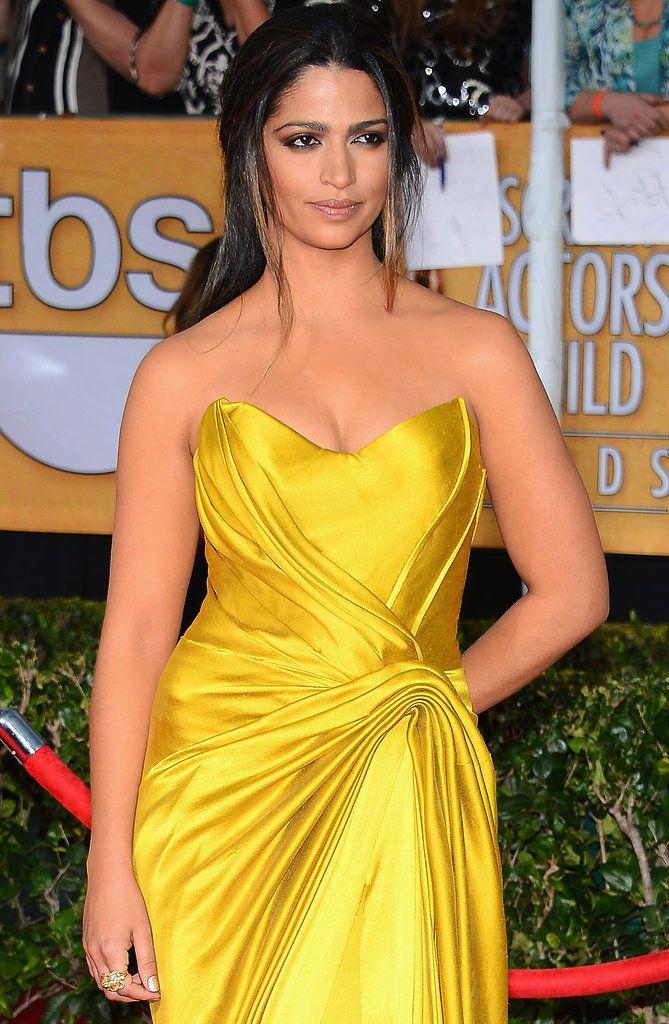 Makeup ith yellow dress actors