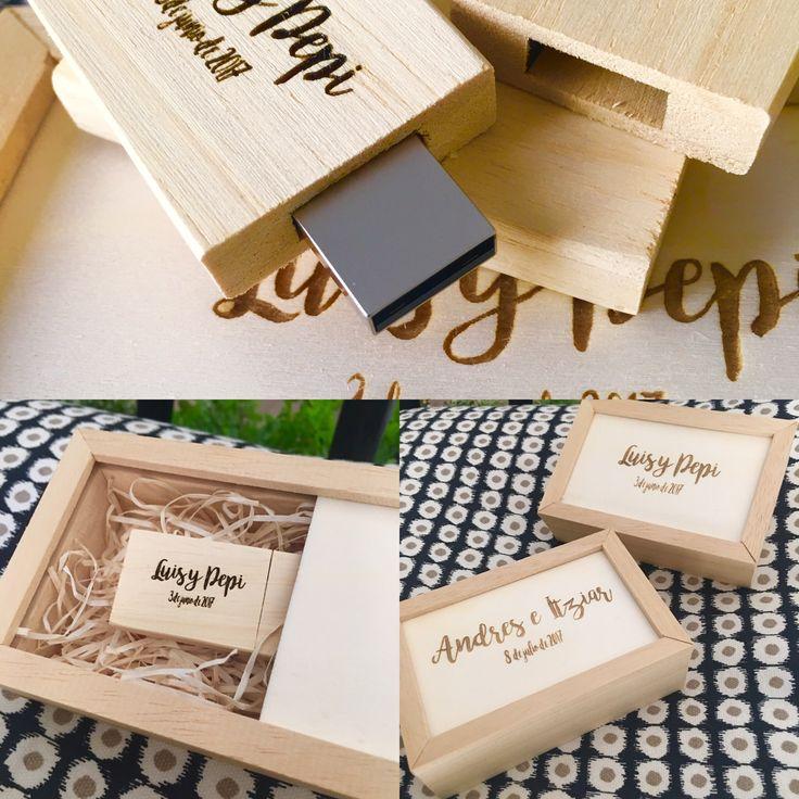 Caja para pendrive y pendrive artesano estuches para - Cajas para fotografos ...