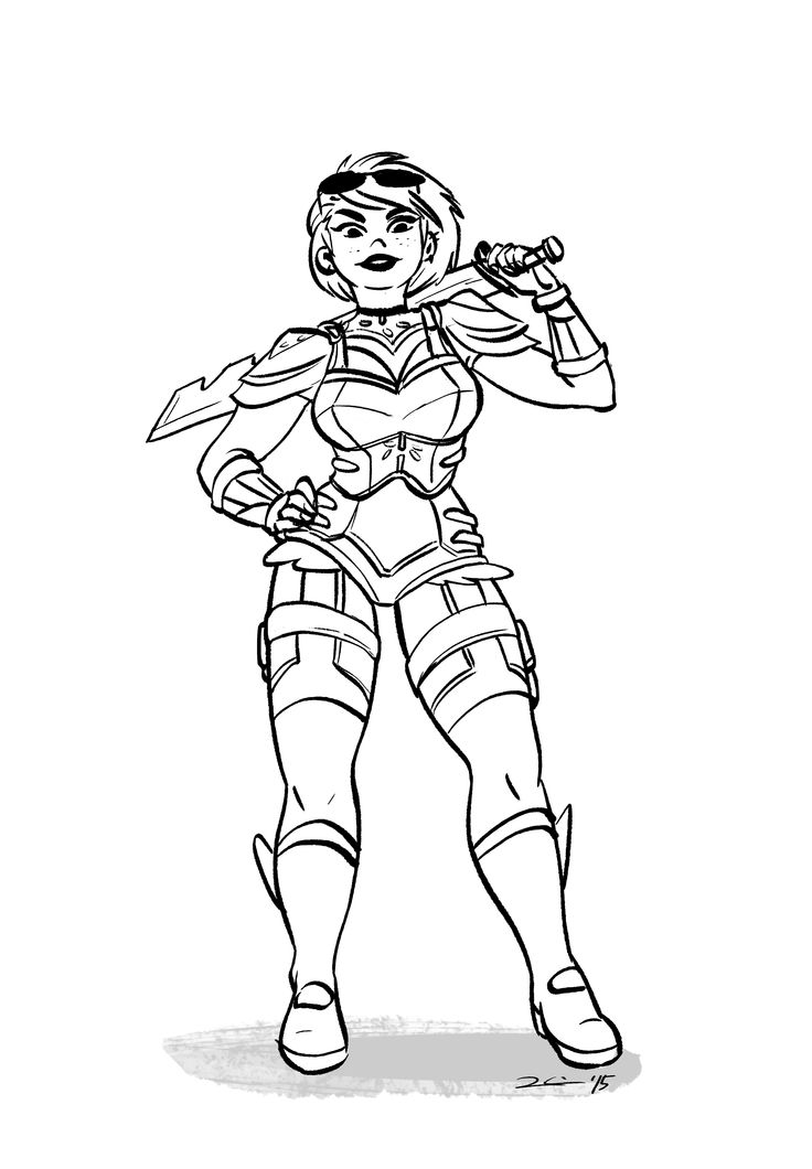 Art3mis - Ready Player One novel character drawing by rachel k.