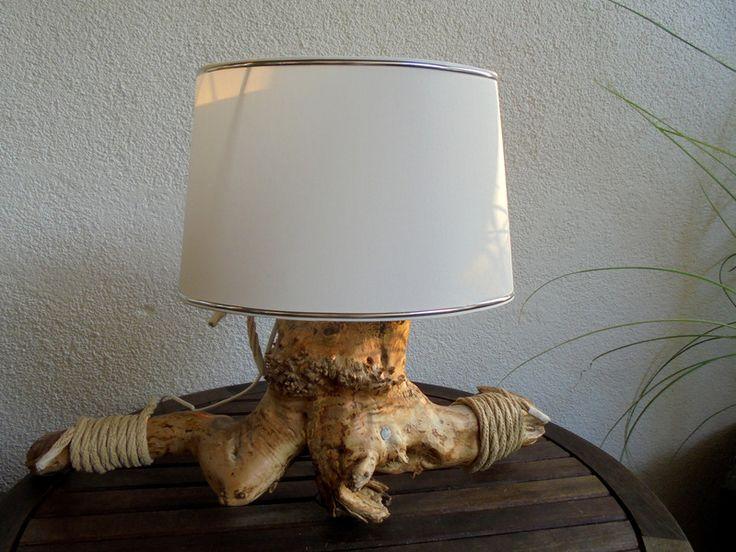 """Tischlampen - Lampe Wurzelholz """"Flair"""" - ein Designerstück von Wurzelkoenigin bei DaWanda"""