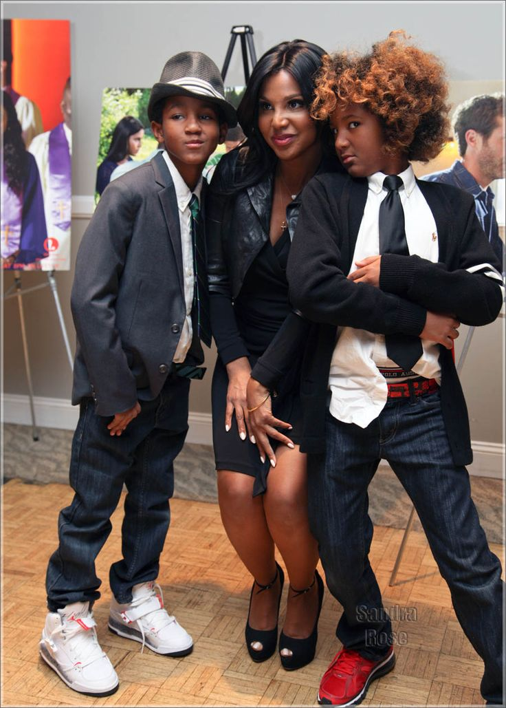 Toni Braxton & her sons