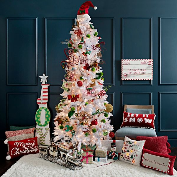 9 Ft Pre Lit Slim Nordic Pine Christmas Tree Kirklands Traditional Christmas Decorations Coastal Christmas Decor Christmas Wall Decor