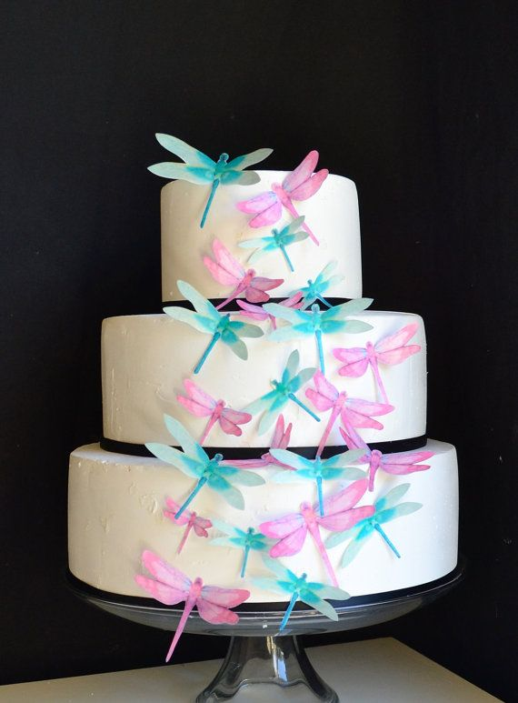 Edible Dragonflies  Assorted Pink and Turquoise  by SugarRobot, $24.95