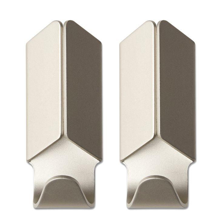 Volet krok 2-pack fra Hay. En dekorativ krok i aluminium. Kroken passer overalt og monteres enkelt p...