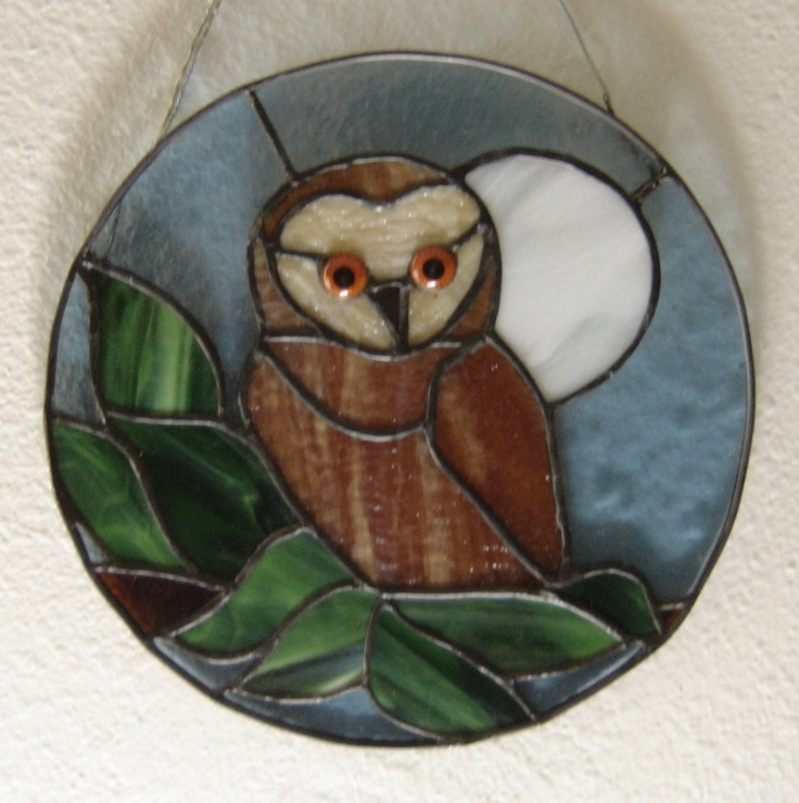 Stained Glass Owl Wall Hanging