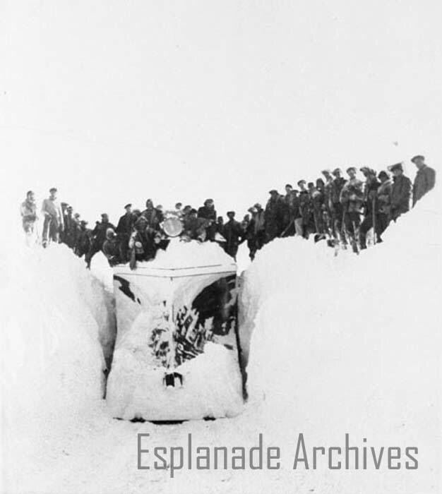 Digging out a train just east of Medicine Hat 1938 March 3
