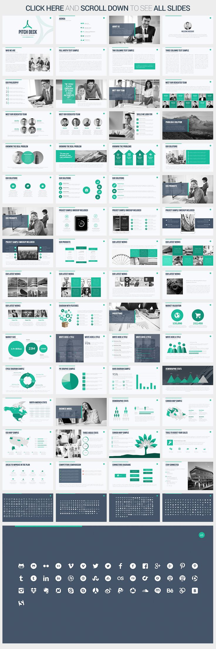 Pitch Deck PowerPoint Template by SlidePro on Creative Market