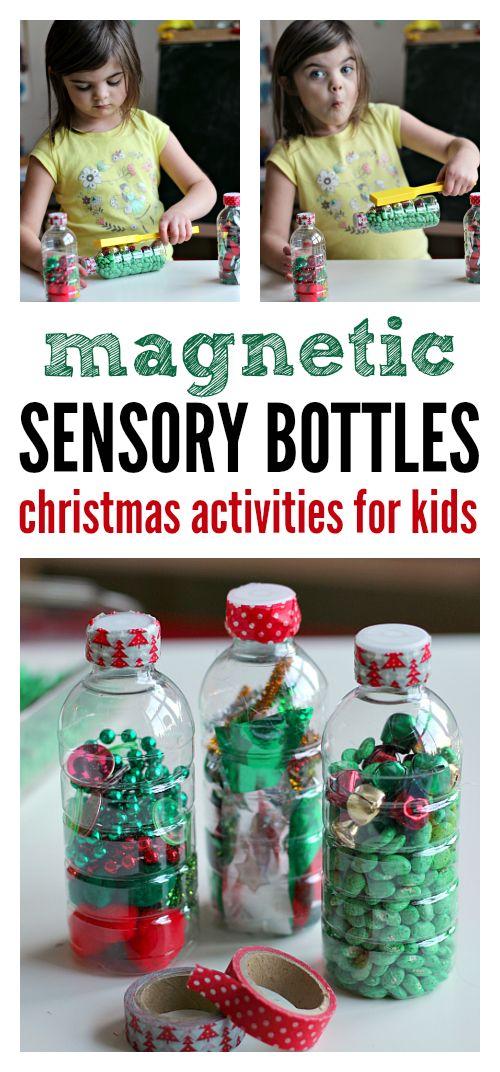 Fun sensory bottles for Christmas.