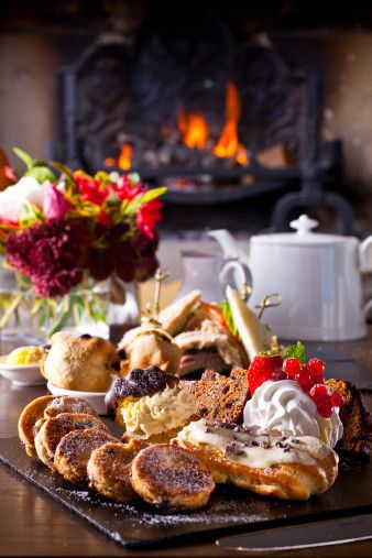 Toasted buttered teacakes and an assortment of homemade cakes...... perfect for the girls this afternoon . . . .