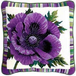 Purple Poppy Tapestry Needlepoint Kit BTTF1