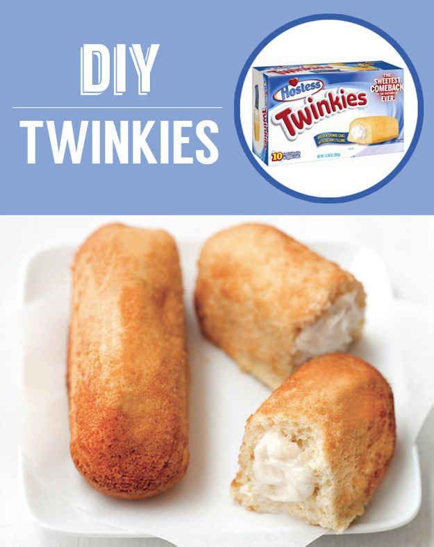 Twinkies caseros | 27 bocadillos clásicos que nunca tendrás que comprar de nuevo