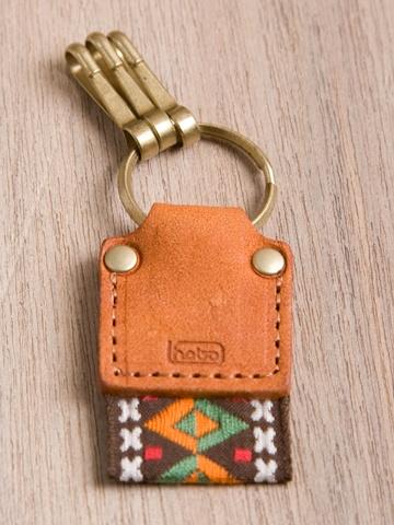 Hobo leather tape key ring