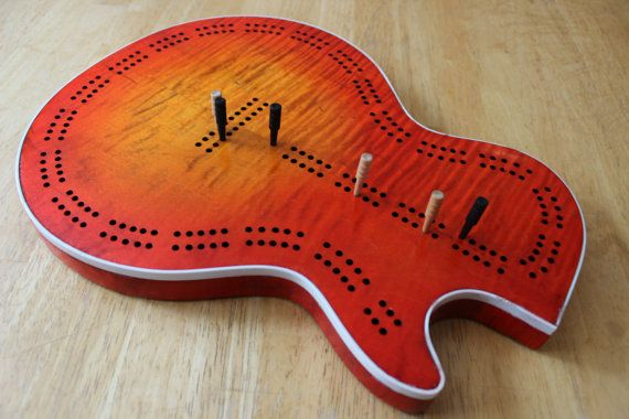 Hey, I found this really awesome Etsy listing at https://www.etsy.com/listing/458838648/cribbage-board-electric-guitar-body