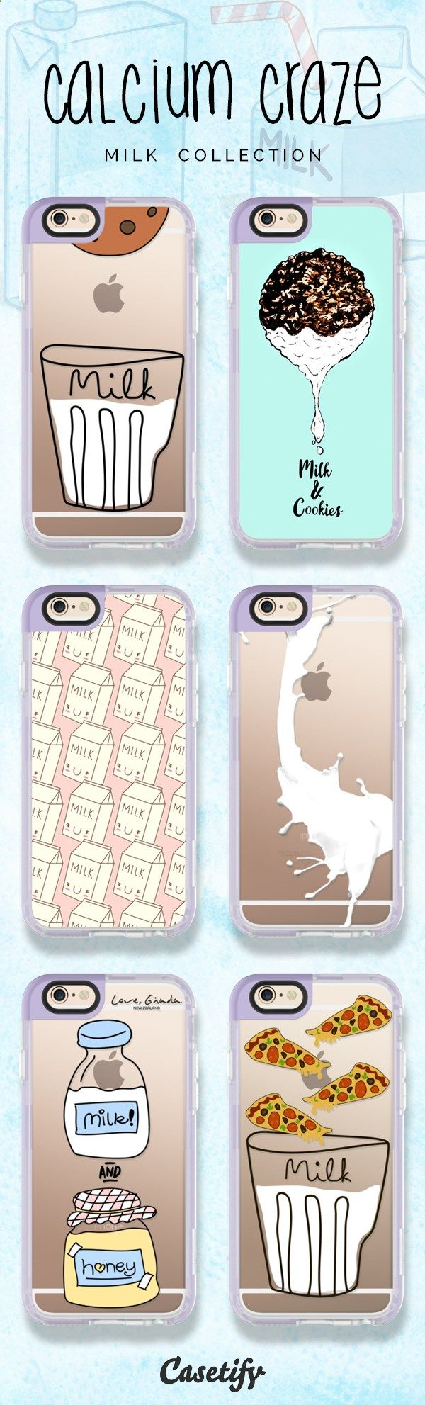 6 most popular milk iPhone 6 protective phone cases | Click through to see more food iphone case ideas >>> www.casetify.com/... | Casetify