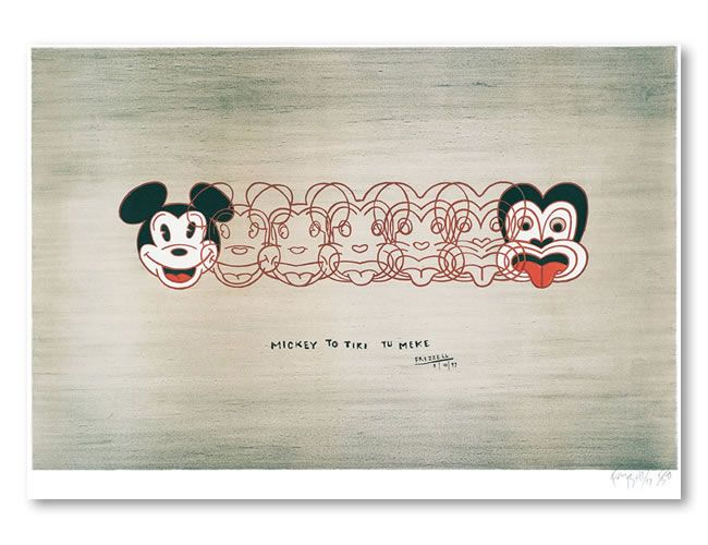 Mickey to Tiki tu Meke by Dick Frizzell. An iconic New Zealand artwork. Contact EIG for Study NZ options: info@imelite.org