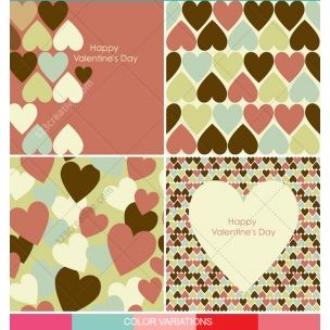 Valentine cards and patterns with hearts in many colours - pack full of diverse heart vector motives for romantic Valentine's day. http://www.123creative.com/holidays-vectors/821-valentine-cards-and-patterns-with-hearts-in-many-colours.html