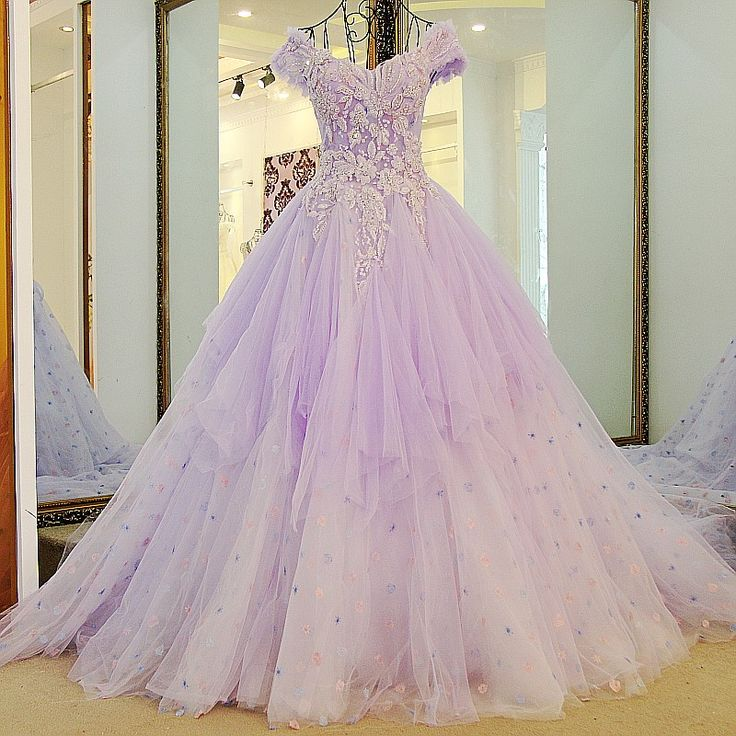 Find More Evening Dresses Information About Robe Soiree Longue Femme Tulle Off The Shoulder Corset Back Sweep Train Beaded Ball Gown Purple