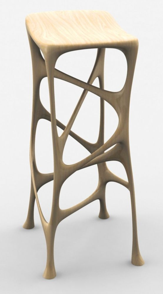 3D Printed Furniture. Organic Stool http://3dprintmastermind.com/category/3d-print-design/