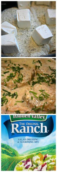 Crock Pot Ranch Chicken-cream cheese